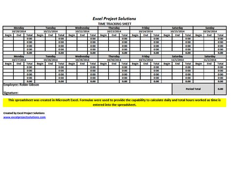 Time Tracking Sheet created in Microsoft Excel #spreadsheets