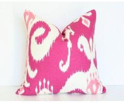 Pink Ikat Pillow Cover