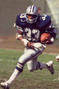 Tony Dorsett, Running back Cowboys 1977-1987, 1x Super Bowl Champion 1977 Rookie of the Year 4x Pro Bowler 1x First-Team All Pro