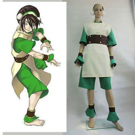 NEW Avatar Toph Beifong cosplay costume Handmade COS:PUY112