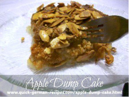 Super quick. Super easy. Super yummy! http://www.quick-german-recipes.com/apple-dump-cake.html