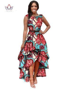 4a8ec338f66344 2016 Longues Dessses Femmes Mode Robe Maxi Marque Africaine Bazin Robes  pour Femmes Dashiki Ankara En Cascade RuffleWY447