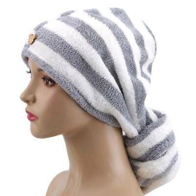 Hair Turban Hat Drying Towel Wrap Quick Bath Dry Microfiber Caps LJ