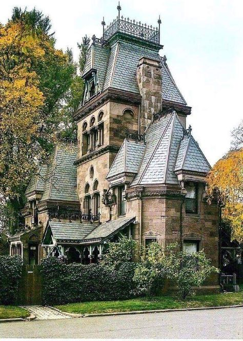 victorian home Fort Hamilton parkway Gate keepers residence Greenwood Cemetery Brooklyn NY Victorian Architecture, Beautiful Architecture, Beautiful Buildings, Beautiful Homes, Architecture Design, Beautiful Places, Victorian Buildings, Victorian Castle, Victorian Rooms