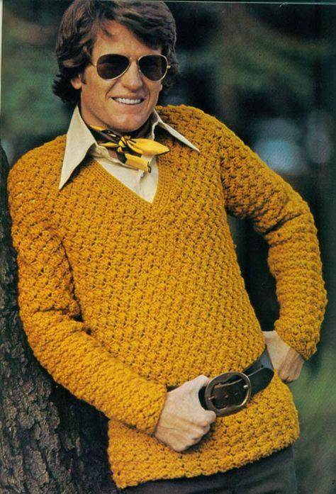 Seriously? … I think his grandma crocheted that for him. - 35 Bitchin' 70s Mens Fashions Fails - Team Jimmy Joe