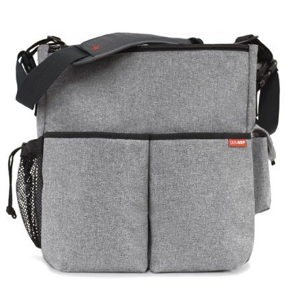 Duo Signature TAX FRE Skip Hop Messenger Diaper Bag With Matching Changing Pad