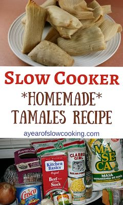 You can make perfect tamales at home by steaming/cooking them in your crockpot slow cooker. This truly is the easiest way to make them and you can fit up to 20 at one time in your pot! how to make tamales in the crockpot slow cooker Crock Pot Slow Cooker, Crock Pot Cooking, Slow Cooker Recipes, Crockpot Recipes, Cooking Recipes, Cooking Tips, Drink Recipes, Freezer Recipes, Freezer Cooking
