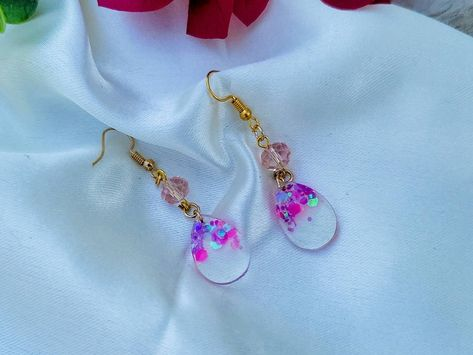 Alcohol Ink Earrings  Turquoise Camo Dangles  Upcycled Soda Can Jewelry  Lightweight  Gift
