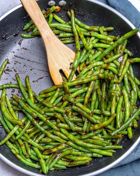 #beans #Clean #Clean Eating Side Dishes #Dish #Eating #green #Side #Teriyaki Teriyaki Green Beans for a Clean Eating Side Dish! | Clean Food Crush
