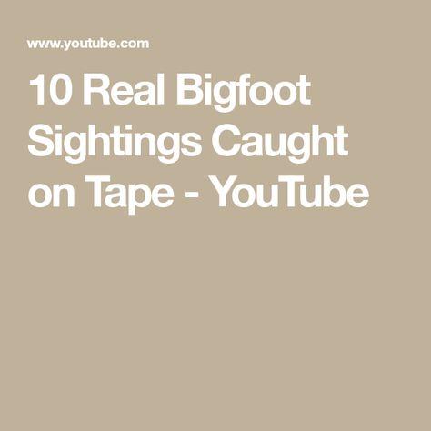 5 Bigfoot Caught on Camera - YouTube