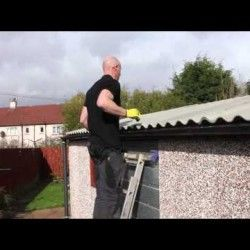 How To Replace A Compton Apex Garage Roof Visual Ly Gutters How To Install Gutters Downspout