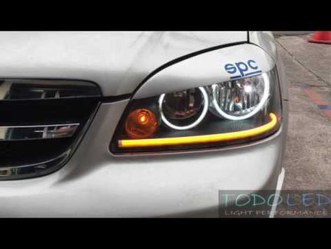 Chevrolet Optra Retrofit Headlights Led Ojos De Angel Angel Eyes