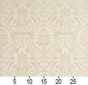 New Modern Damask Floral Pattern Beige Golden Shine Upholstery Furnishing Fabric