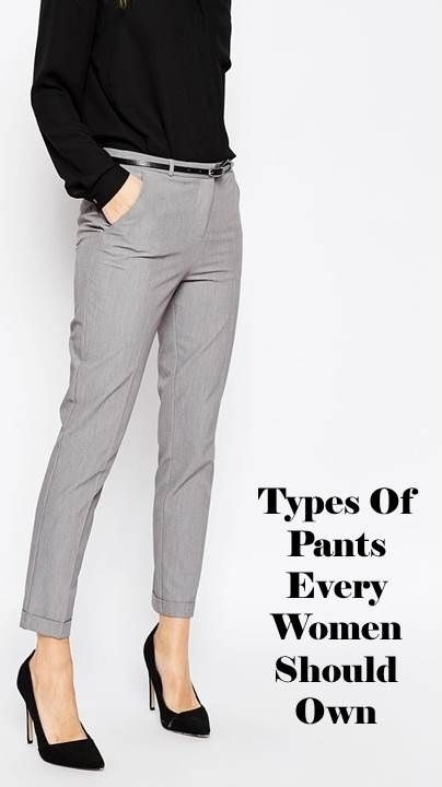Types of pants every woman should own | Office wear women, Type of pants,  Work outfits women