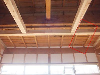 天井の枠に大きな断熱材を施工しようと 奮起したのは良いものの思った