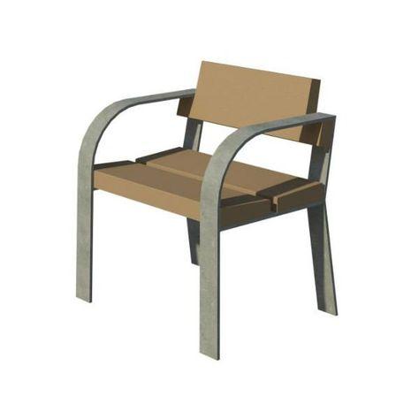 silla madera gnomos exterior