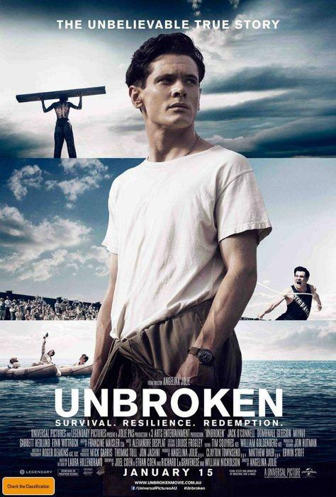 International Poster For Angelina Jolie's 'Unbroken' – Starring Jack O'Connell & Domhnall Gleeson