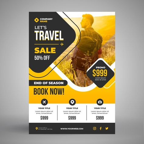 Download Travel Sale Flyer Template for free