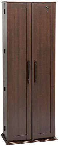 New Espresso Grande Locking Media Storage Cabinet With Shaker