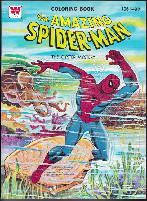 The Amazing Spider Man Coloring Book 1976 From The Disneyland Treasures Ebay Store Coloring Books Vintage Coloring Books Comics