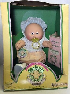 Rare Original 1985 Cabbage Patch Preemie March Of Dimes Bliss Dixie New In Box Ebay Cabbage Patch Babies Cabbage Patch March Of Dimes
