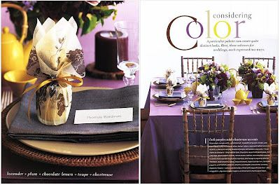 Wedding Inspirations: Purple And Yellow