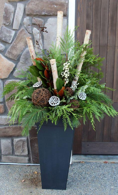 Christmas Planters Diy.Winter Container Gardens How Do You Do Christmas