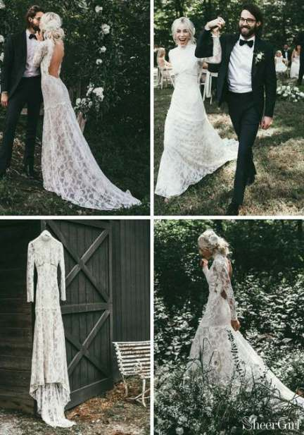 Best Vintage Wedding Dress With Sleeves High Neck 39 Ideas Lace Wedding Dress Vintage Boho Wedding Dress Lace Backless Wedding Dress