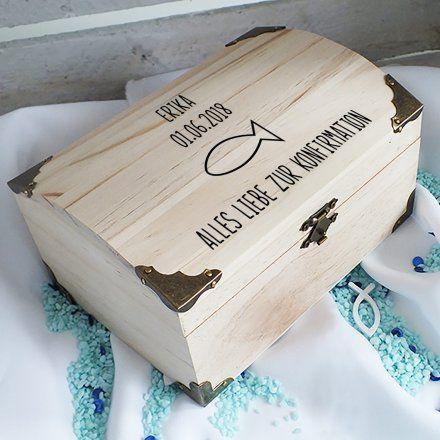Personalisierbare Schatztruhe Zur Konfirmation Gross Online Kaufen Geschenke De Online Shop Geschenke Zur Konfirmation Geschenke Zur Taufe Madchen Schatztruhe