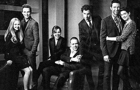 Cast of Les Miserables. Arrgh! Hugh Jackman and Anne Hathaway, STOP making me ship JVJ and Fantine!!!