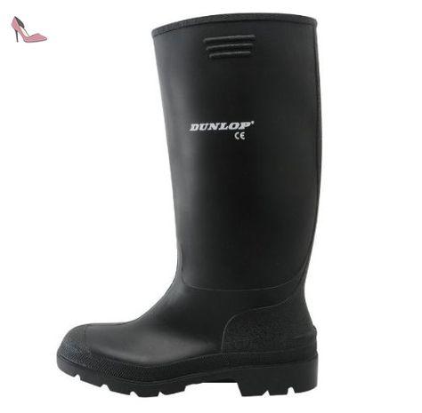 Dunlop Bottes en caoutchouc PVC pour homme Noir Noir
