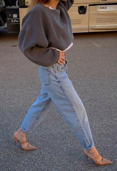 ASOS DESIGN Ballonbein Boyfriend Jeans in leichter Vintage Waschung | ASOS, #ASOS #Ballonbein #Boyfriend #Design #Jeans #leichter #springoutfitscasual #vintage #Waschung