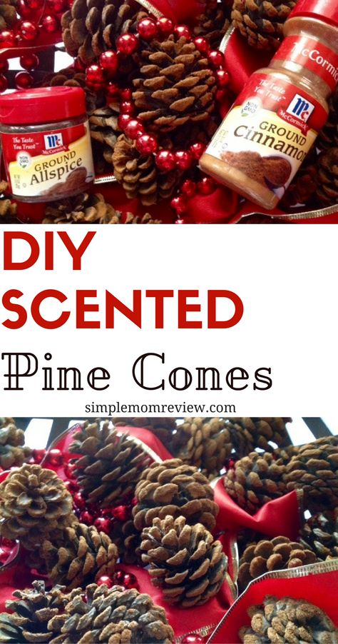 Holiday Scented Pine Cones Easy scented pine cones with only a few ingredients.Easy scented pine cones with only a few ingredients. Christmas Projects, Holiday Crafts, Fall Crafts, Pinecone Crafts Kids, Diy Crafts, Pinecone Decor, Pinecone Ornaments, Paper Crafts, Painted Ornaments