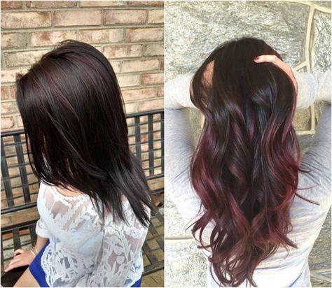 Schwarze haare färben