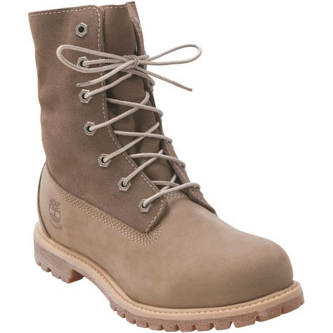 finest selection 9c0f5 ab32e Timberland Women s Waterproof Fold-Down Taupe Winter Boot ( 130) ❤ liked on  Polyvore featuring shoes, boots, ankle booties, taupe, waterproof boots, ...