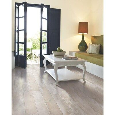 Allen Roth Seaside Chestnut 6 14 In W X 3 93 Ft L Embossed Wood Plank Laminate Flooring In 2020 Wide Plank Laminate Flooring Laminate Flooring Laminate Flooring Diy