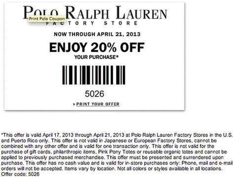 Ralph Lauren Polo Coupons Printable 2014 kXZiuTwOPl