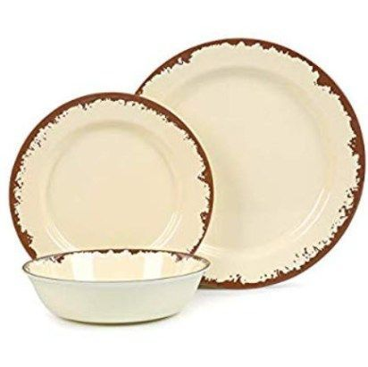 Rustic Melamine Dinnerware Set Service For 4 Pale Yellow Cabin Decor Ideas In 2020 Holiday Dinnerware Melamine Dinnerware Sets Melamine Dinnerware