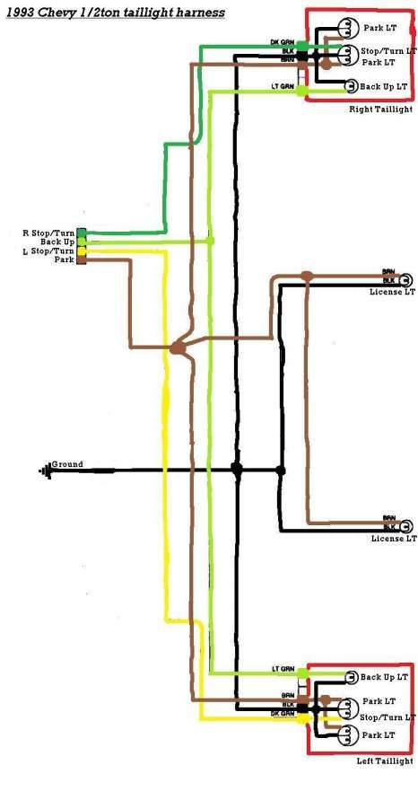 chevy truck tail light wiring harness - circuit diagram quartz clock for  wiring diagram schematics  wiring diagram schematics