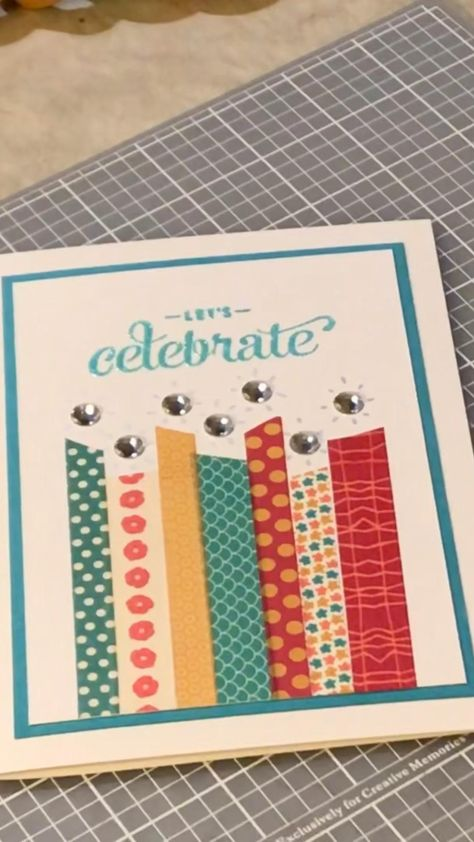 Handmade happy birthday card from Etsy on its way to a customer in California