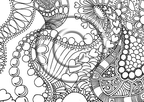 printable download coloring page hand drawn zentangle inspired abstract zendoodle doodle 220