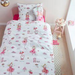 Beddinghouse Renforce Bettwasche Birthday Fairy Pink Mit Kleidchen