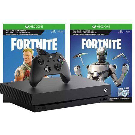 Microsoft Xbox One X Fortnite True 4k Epic Bundle 2 000 V Bucks Legendary Rare Eon Cosmetic Set And Xbox One X 1tb Console 4k Hdr With 4k Ultra Hd Blu Ray W