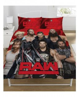 Raw Smackdown /'Ring/' WWE Duvet Cover Set Double Quilt Cover Bed Set