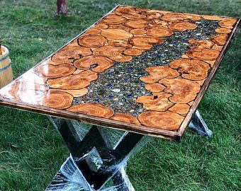 epoxy dining room tables etsy resin