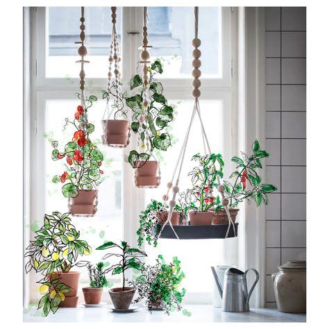 ANVÄNDBAR Hanging plant holder - hanging, natural - IKEA