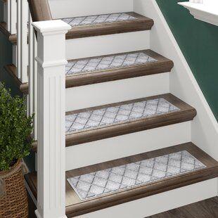 Gracie Oaks Godinez Stair Tread Wayfair In 2020 Gray Stairs Carpet Stair Treads Stair Treads