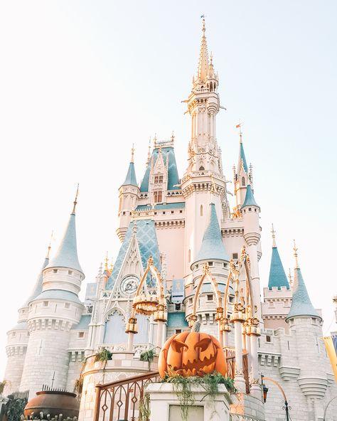 Halloween Cinderella Castle Print - 12×16