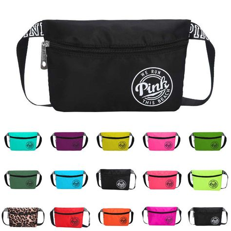 6.79 USD ❤ Womens Fanny Pack Wallet Pouch Belt Waist Outdoor Sports Beach  Shoulder Bum Bag 0b13641c7c