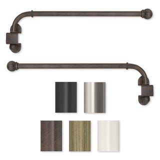 Swing Arm 24 To 38 Inch Adjustable Curtain Rod 38 Swing Arm Curtain Rods Curtain Rods Home Decor Heavy duty swing arm curtain rod